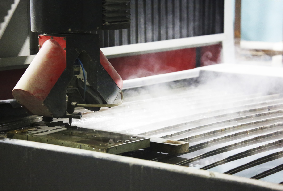 A waterjet cutting machine